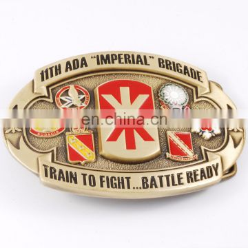 Personalized Design Die Struck SOFT ENAMEL COLORS GOLD MEN Belt Buckle