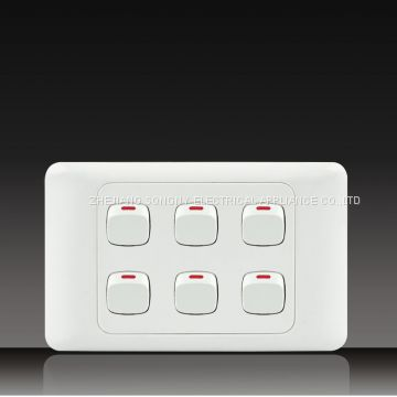push button wall switch socket Digit Telephone Socket with Data Socket