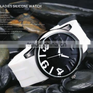 2016 watch silicone custom novelty analogic womens adult silicone watch fashion