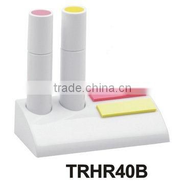 2 in 1 multi colored highlighter pen (with memo pad)