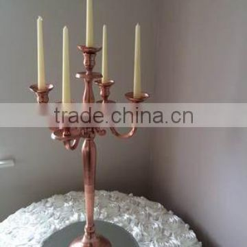 copper plated candle stick candelabra