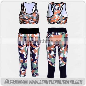 4ec609a3f38 Sublimation Printed Camo Sports Gym Legging Women Fitness Sexy Yoga Wear of  Yoga wear from China Suppliers - 144191318