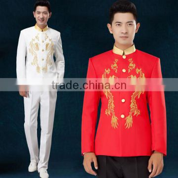 custom cheap embroidery flower handsome outfit men music
