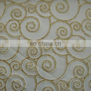 High quality manufacturer fabrics printing organza fabric for wallpaper