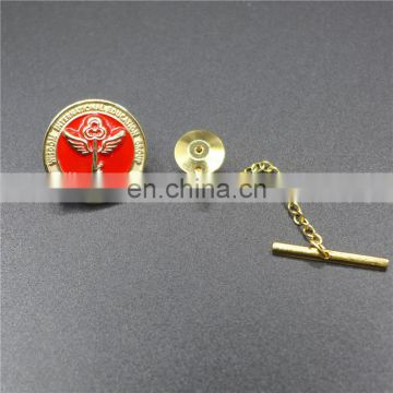 Top sale factory price gold plating metal badge reel