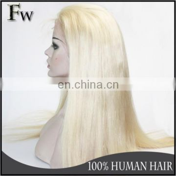 Boutique Stock Virgin Hair Wig 130 Density Full Lace Wig Blonde Colour Virgin Human Hair Full Lace Wig With Baby Hair