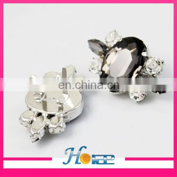 high quality lady shoe accessories diamond shoe decoration shoe buckle