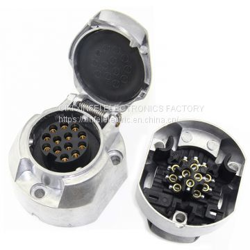 High qualiyt 13pin alu trailer socket  for truck