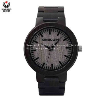 XINBOQIN Supplier Brand Name Men Quality Casual Fashion Quartz Wood Watch
