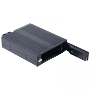 Aluminum 3.5in SATA Tray-less Mobile Rack hot swap drive bay Internal hdd enclsoure