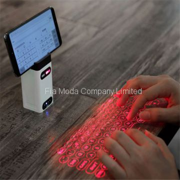 M1 portable Laser projection keyboard with power bank multi function device