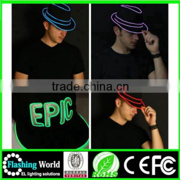 factory manufacture complete range of articles flashing el wire hats