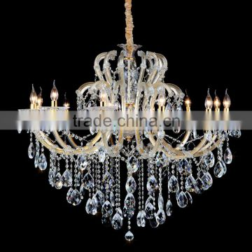 12 bulbs pendant light fixture and crystal chandelier