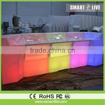 modern design rgb color led stool chair, led round bistro table chairs
