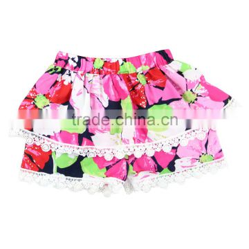 Wholesale New Style Baby cotton flower pattern Girls Skirts kids fancy skirt