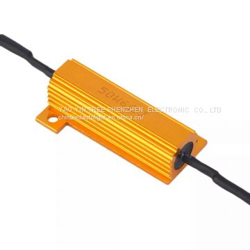 12V-24V Automotive General Purpose LED Signal Steering Light Decoder LED Brake Light Resistor Decoder 50W 6ohm