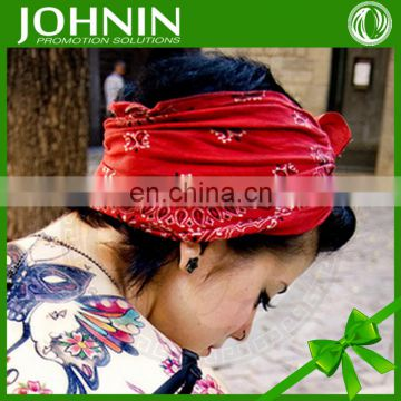 wholesale custom best logo design polyester cotton head bandana