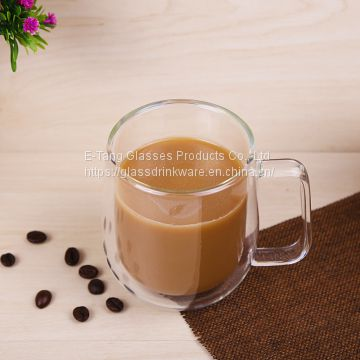 Heat Resistant High Borosilicate Egg Shape Double Wall Glass Coffee Cup With Lid for Tea and Coffee Drinking