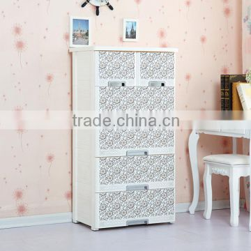 Plastic foldable portable drawer wardrobe manufacturer in China