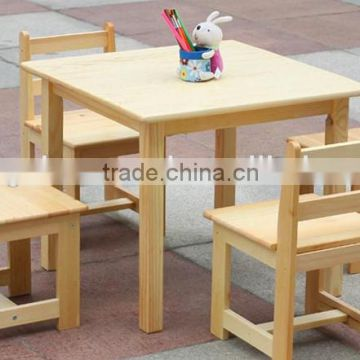 New product home furniture wooden table set children, wooden toy table and chair for kids