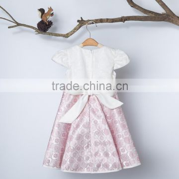 2016 Chinese Garment Factory Newest Arrival Cap Sleeve Polyester Fabric Baby Girls Fashion Dresses