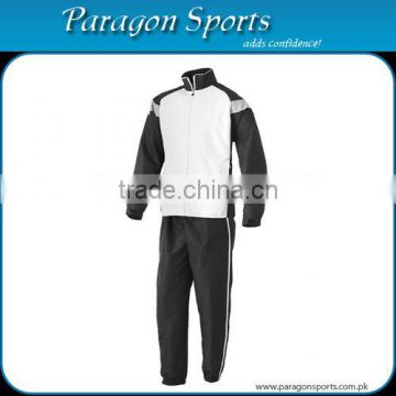 Sports Warm Up Suit (White & Black)