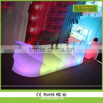 Colorful led furniture/solar powered led bar counter