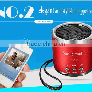 New High Quality Fashion Portable Micro USB Stereo Speaker With FM Radio For iPad For iPhone For Samsung