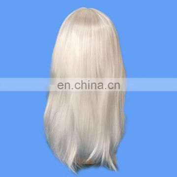 Long straight white hair China wig supplier