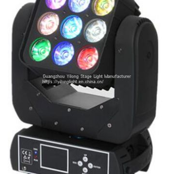 Matrix color wash 9PCS 12W CREE LED mini beam wash moving head stage light