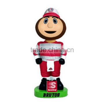 custom make 3d plastic mascot figurines, make your own design plastic sports mascot figurines