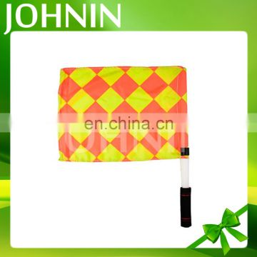 Good quality custom printing red yellow sport football soccer hand referee flag