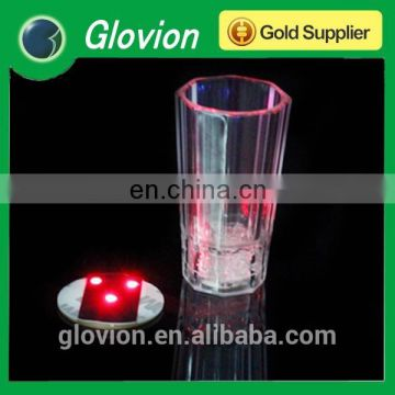 Hot sell colourful led flashing coaster for drinking