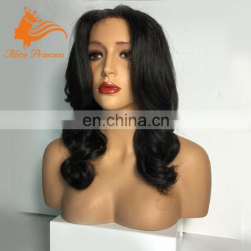 Indian Natural Color Lace Wig Human Hair Lace Front Wig With Good Quality From Hair Factory