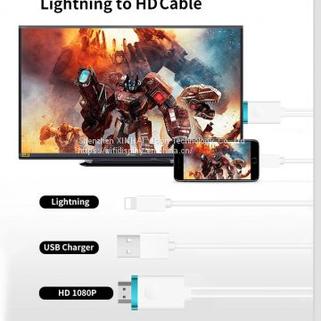 HDMI cable adapter for iPhone XR/iPad iOS12 video audio