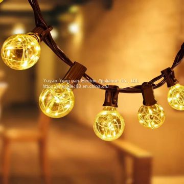 American outdoor lamp holder, UL lamp string, American holiday Christmas tree decorative lamp, American lamp holder power cord.