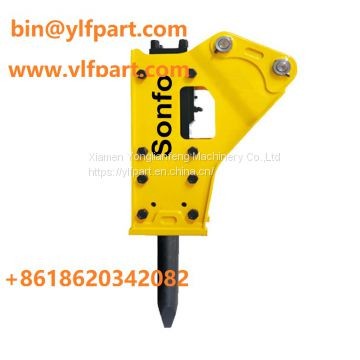Chinese small mini digger crawler excavator 0.8 ton parts hydraulic breaker hammer for trenching mining demolition