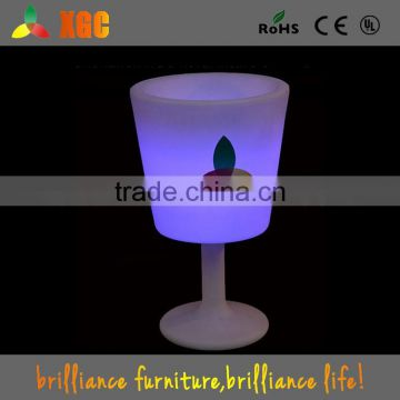 2015 hot sale led ice round bucket used for ice challenge