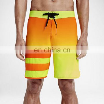 2017 sublimation oem Mens long board shorts 4 way stretch beach board shorts for men