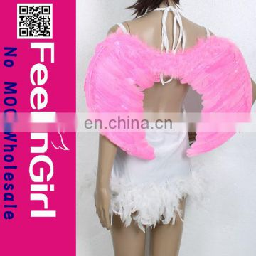 Cheap adult size costume goose feather angel wing for women pink