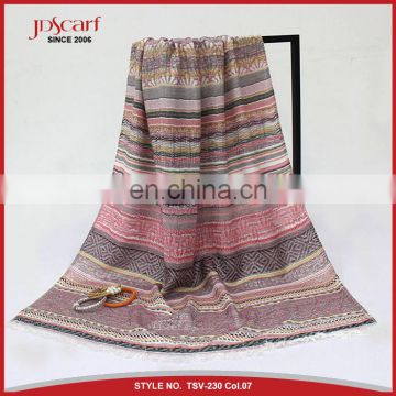 55% cotton 45% polyester summer spring new design cotton scarf