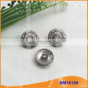 Fashion Zinc Alloy Shank Button for Garment BM1615