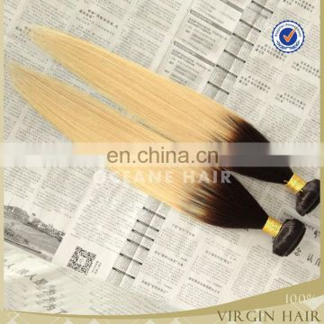 unprocessed wholesale ombre virgin brazilian hair ombre weave hair 613 blonde