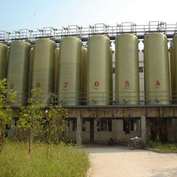 Glass Fiber Tank Chemical Liquilds Waste Water
