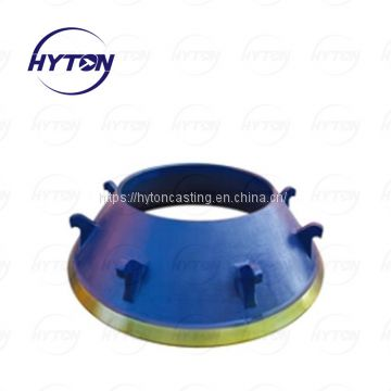 High Manganese Mantle Bowl liner Apply to Trio TP450 Cone Crusher Wear liner