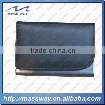 high quality fashion PU metal leather index ID name card holder                                                                         Quality Choice