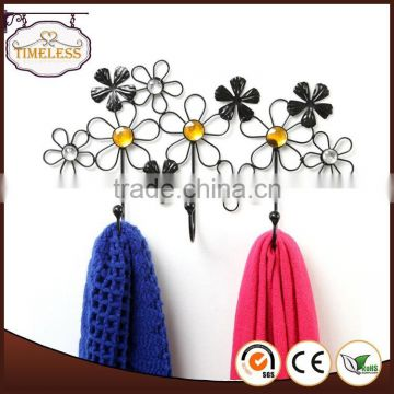 Beautiful Decorative Flower Design metal wire hanger/wall decor/Wall hook