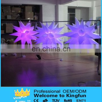 LED Color changed inflatable star for Decoration