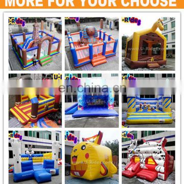 PVC Tarpaulin inflatable car bouncer castle inflatable castle with slide indoor bouncing castles for park