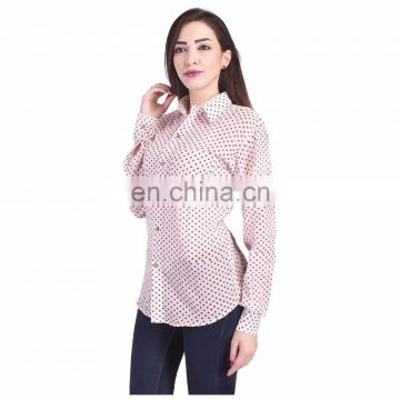 3 Pcs Top Hand Block Print Women's Tunic Shirt polka Dot Kurti L, M Xl Size